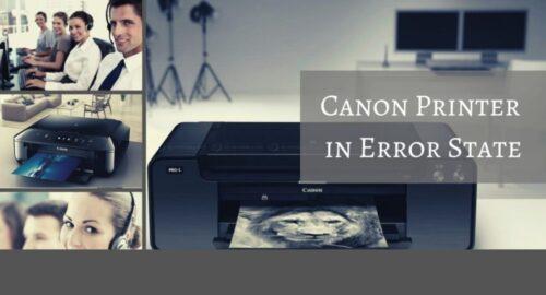 Easy Fixes: Canon Printer Error State