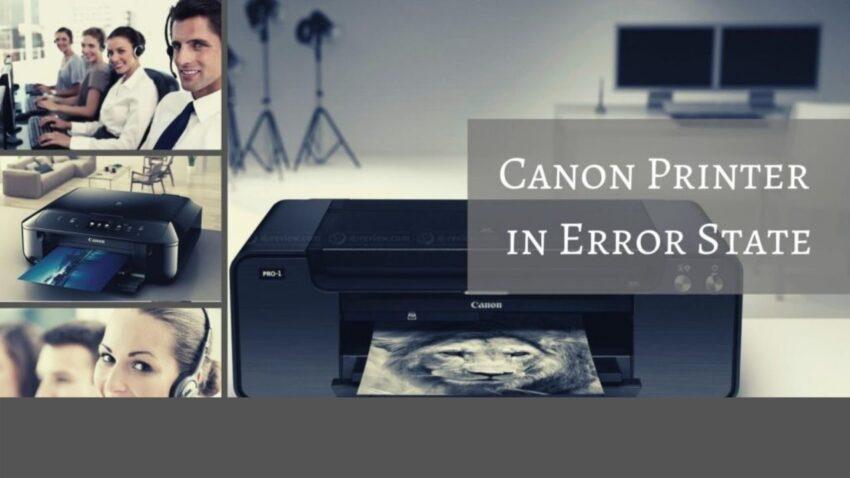 canon printer error state
