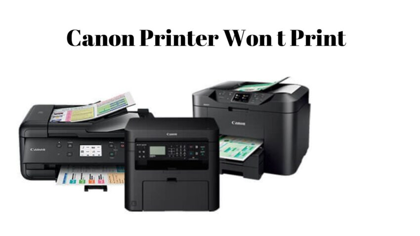 canon printer won't print