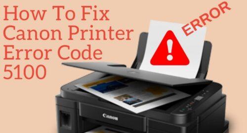 Call +1-888-480-0288 to Fix Canon Printer Error 5100
