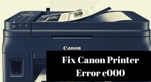 How To Fix Canon Printer Error c000