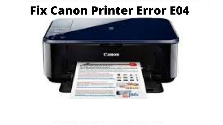 canon printer error e04